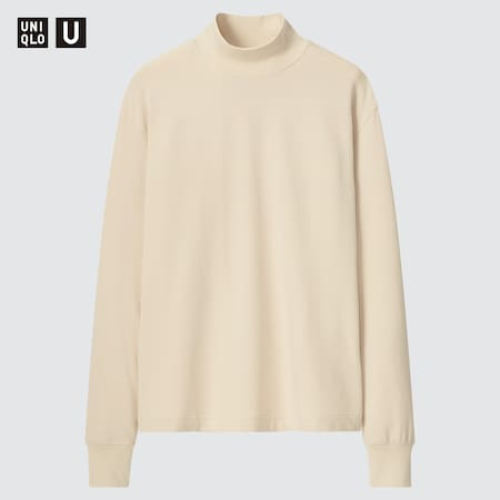 Women Uniqlo U HEATTECH Cotton Mock Neck Long Sleeved Top