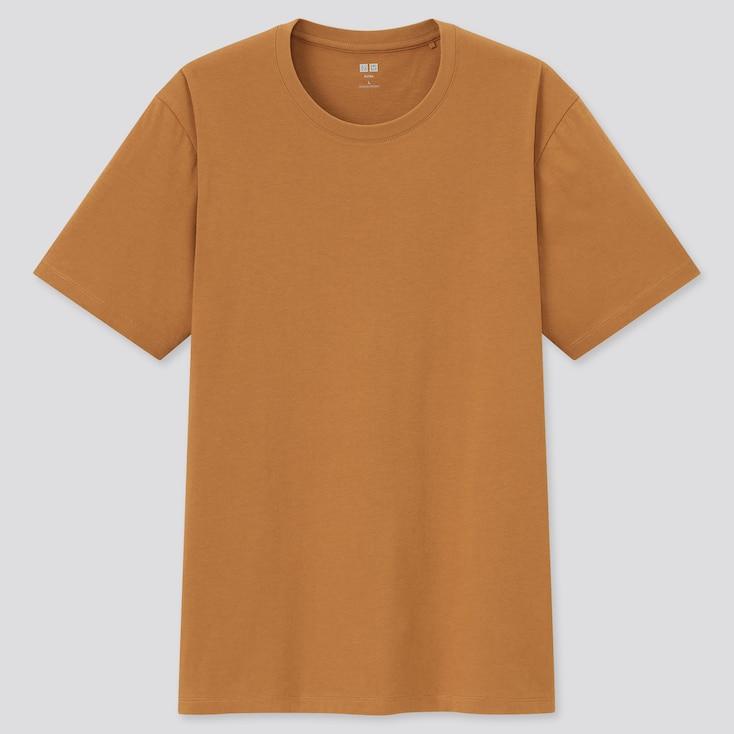 Men Supima Cotton Crew Neck Short-Sleeve T-Shirt, Orange, Large