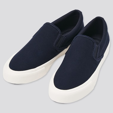 Cotton Canvas Slip-On Trainers