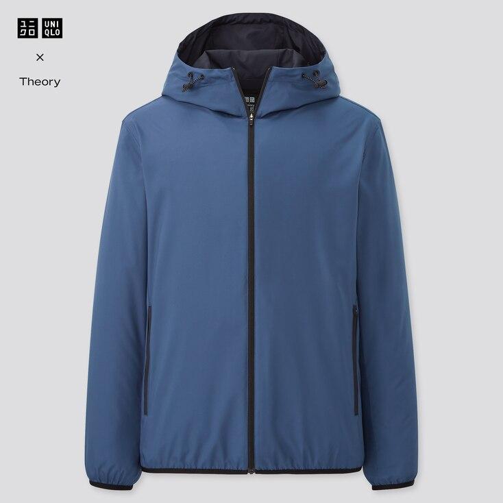 Men Pocketable Parka (Theory)ÿ, Blue, Large