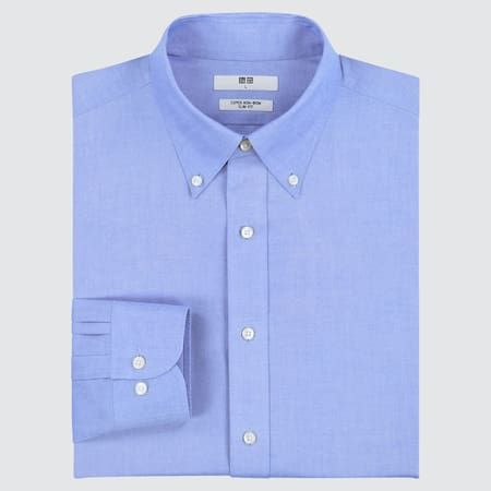 Camicia No Stiro Slim (Colletto Con Bottoni) Uomo