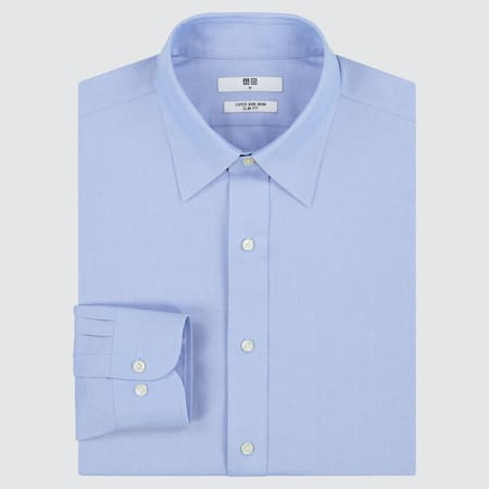 Men Super Non-Iron Slim Fit Shirt (Regular Collar)
