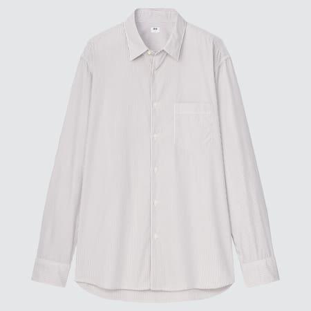 Herren Gestreiftes Extra feine Baumwolle Hemd