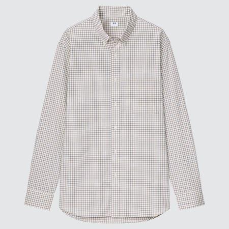 Herren Kariertes Extra feine Baumwolle Hemd