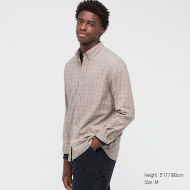 FLANNEL CHECKED LONG-SLEEVE SHIRT