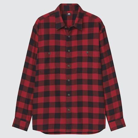 Men Flannel Checked Regular Fit Shirt (Regular Collar)