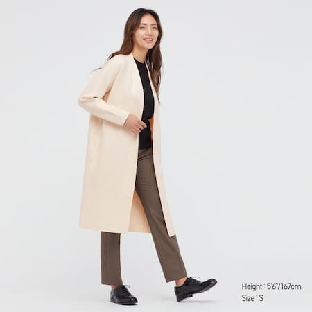 WOMEN Soft Soufflé Yarn Smooth Knitted Coat