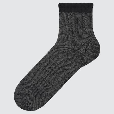 MEN HEATTECH Pile Plating Half Socks