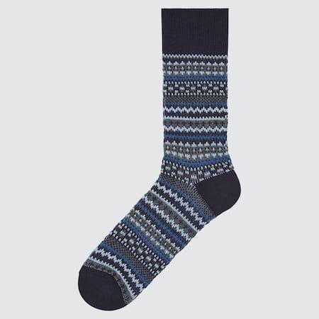 Herren Gemusterte HEATTECH Socken