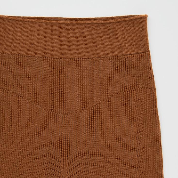 Women 3d Knit Ribbed Shorts (Mame Kurogouchi), Black, Large