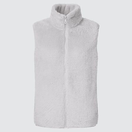 WOMEN Fluffy Yarn Fleece Vest