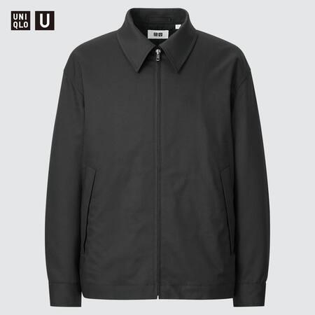 Men Uniqlo U Zipped Blouson Jacket