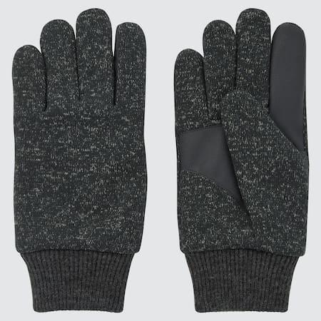 Men HEATTECH Lined Knitted Fleece Gloves