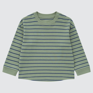 TODDLER SOFT TOUCH COTTON CREW NECK LONG-SLEEVE T-SHIRT