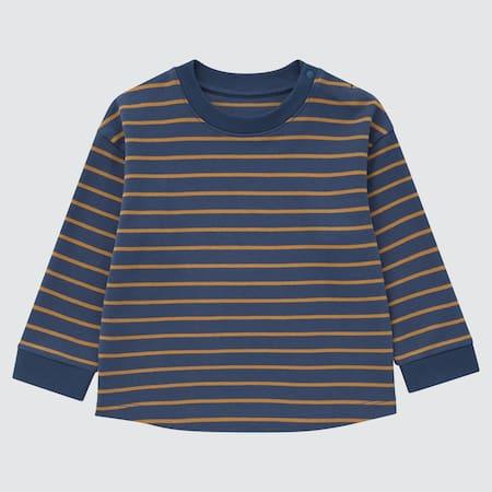 Baby Gestreiftes Soft Touch Baumwoll Langarmshirt