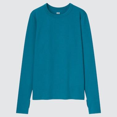 Women Dry-Ex Crew Neck Long-Sleeve T-Shirt, Green, Medium