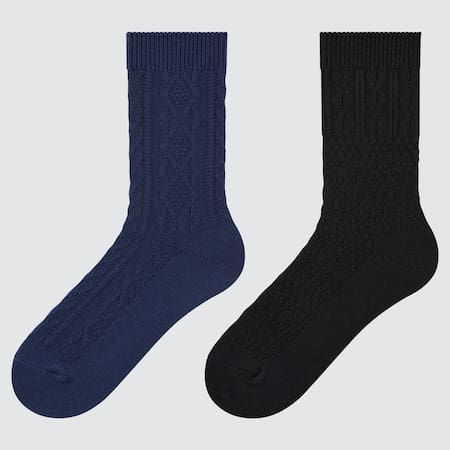 Damen HEATTECH Zopfstrick Socken (2 Paar)