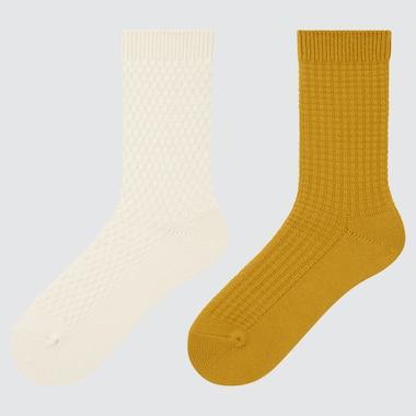 WOMEN HEATTECH PIQUE SOCKS (2 PAIRS)