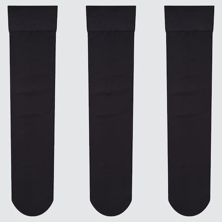 Women Nylon Knee High Socks (Three Pairs)