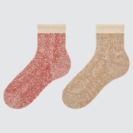 WOMEN HEATTECH Pile Socks (Two Pairs)