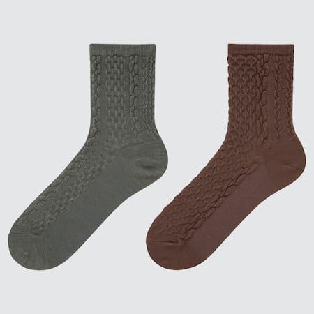 Women HEATTECH Crew Socks (Two Pairs)