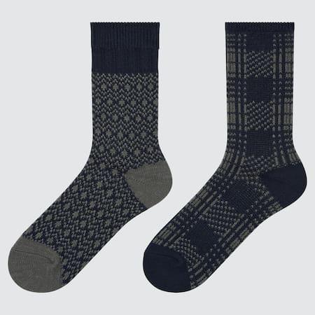 Damen Gemusterte HEATTECH Socken (2 Paar)