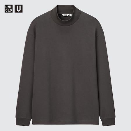 Men Uniqlo U Mock Neck Pullover