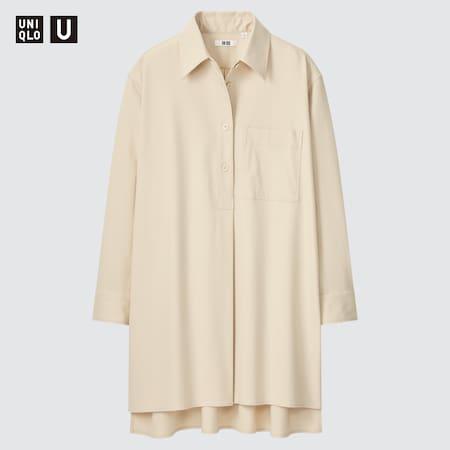 Women Uniqlo U Flannel Longline Shirt