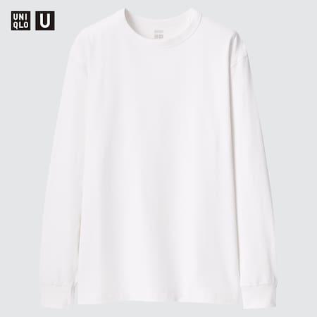 T-Shirt Uniqlo U Termica HEATTECH Cotone Girocollo Maniche Lunghe Uomo