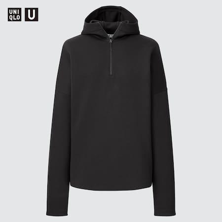 Women Uniqlo U Sweat Half-Zipped Hoodie
