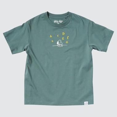 Kids Peanuts Ut (Short-Sleeve Graphic T-Shirt), Green, Medium
