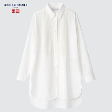 Women Ines de la Fressange Long Sleeved Oxford Tunic