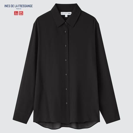 Women Ines de la Fressange 100% Silk Long Sleeved Blouse