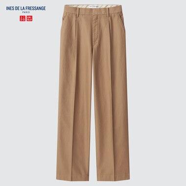 WOMEN COTTON WIDE PANTS (INES DE LA FRESSANGE)