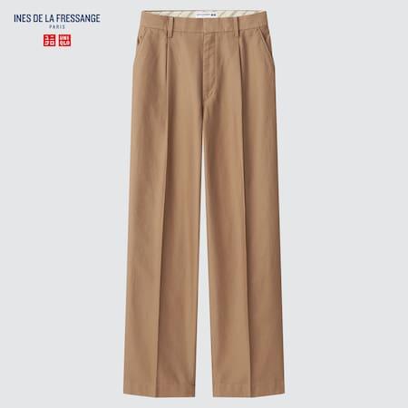 Women Ines de la Fressange Cotton Wide Leg Trousers