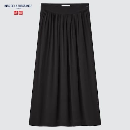 Women Ines de la Fressange Rayon Gathered Skirt