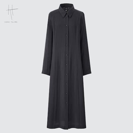 Damen Hana Tajima Langes langärmliges Hemdkleid
