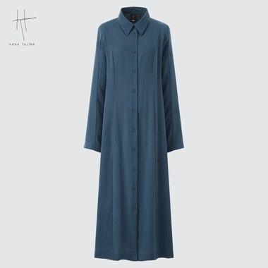 WOMEN LONG-SLEEVE LONG SHIRT DRESS (HANA TAJIMA)
