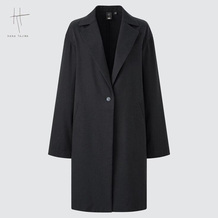 1920s Coats, Furs, Jackets and Capes History UNIQLO Womens Twill Cocoon Coat Hana Tajima Black XS $69.90 AT vintagedancer.com