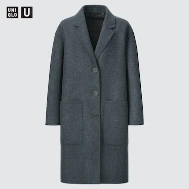 WOMEN U WOOL-BLEND TAILORED COAT