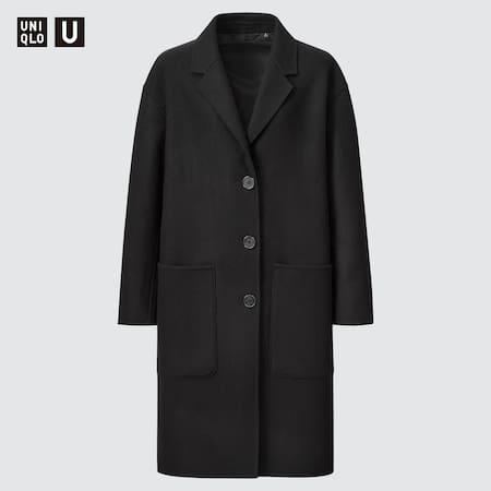 Women Uniqlo U Wool Blend Tailored Coat