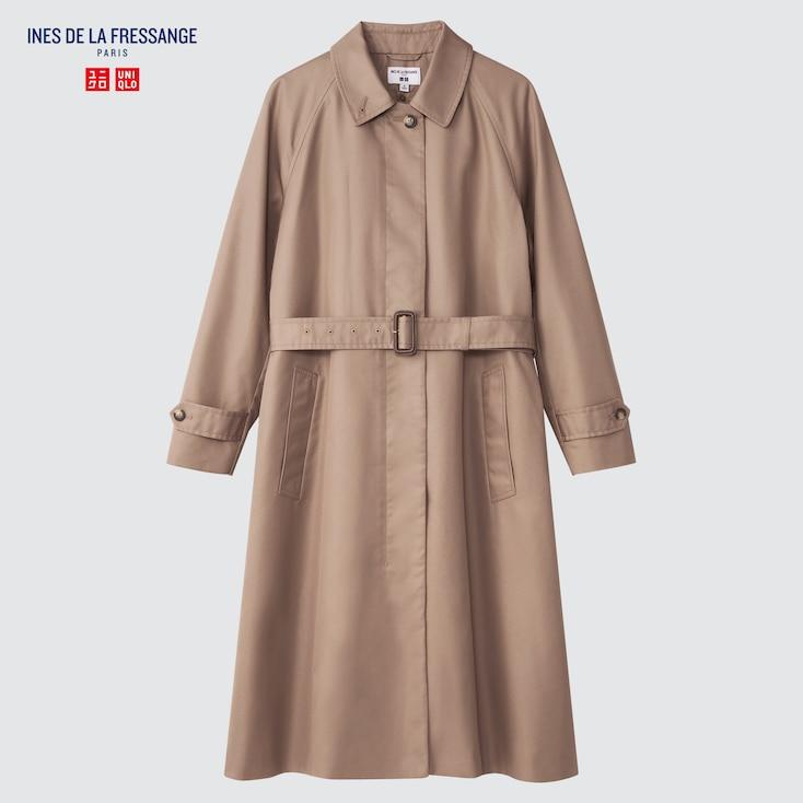 1940s Men's Clothing UNIQLO Womens Single Breasted Coat Ines De La Fressange Beige XXL $129.90 AT vintagedancer.com
