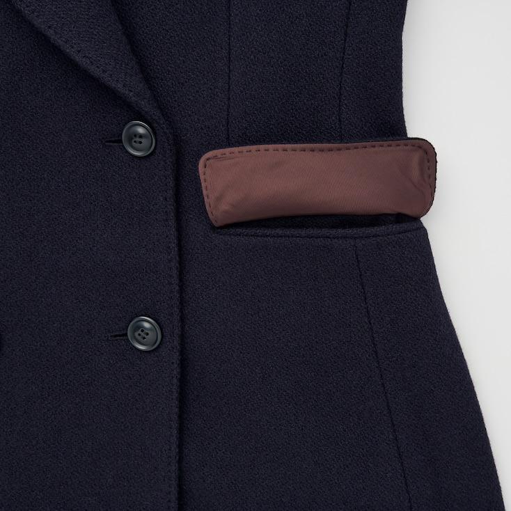 Women Tweed Coat (Ines De La Fressange), Black, Large