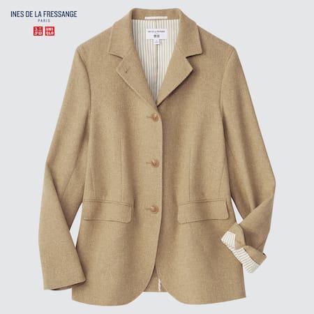 Damen Ines de la Fressange Wolle Leinen Jacke