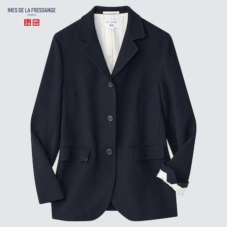 Women Ines de la Fressange Wool Linen Blend Jacket