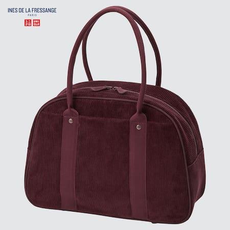 Ines de la Fressange Corduroy Boston Bag