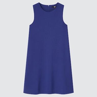 Women Stretch Sleeveless Dress, Blue, Medium