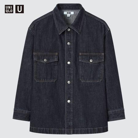 Kinder Uniqlo U Oversize Jeanshemd