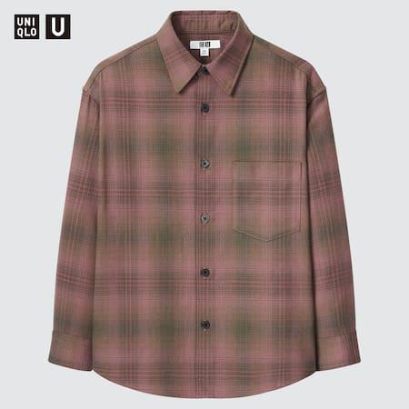 Kinder Uniqlo U Kariertes oversize Flanellhemd
