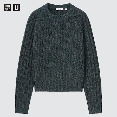Women Uniqlo U Low Gauge Knit Crew Neck Jumper